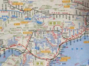 松田駅付近の路線図