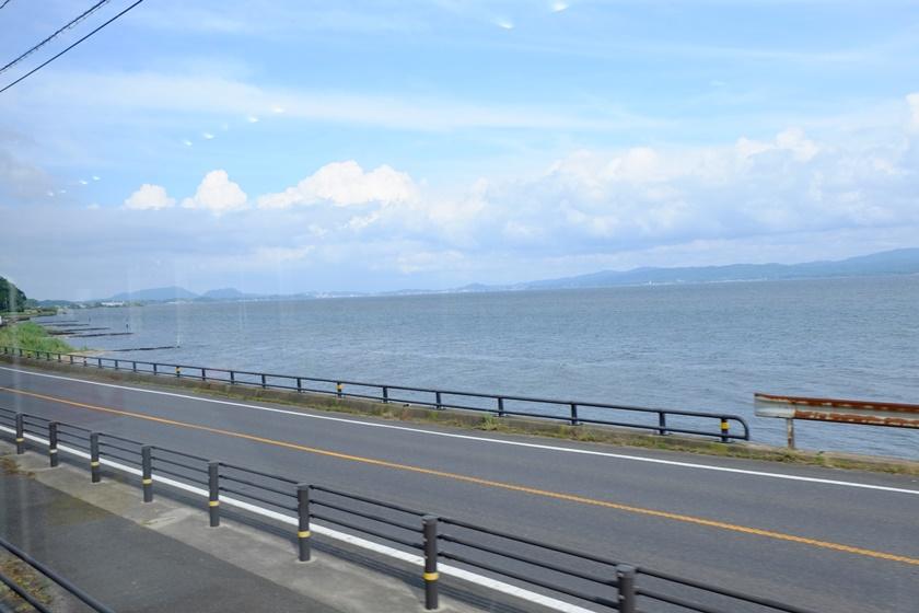 車窓から見る宍道湖