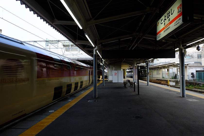 豊橋駅に止まったサンライズ