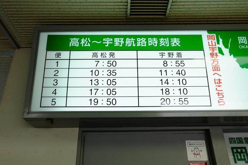 宇野行時刻表