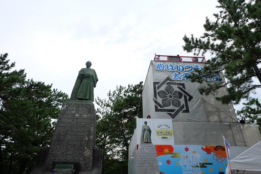 龍馬像と展望台