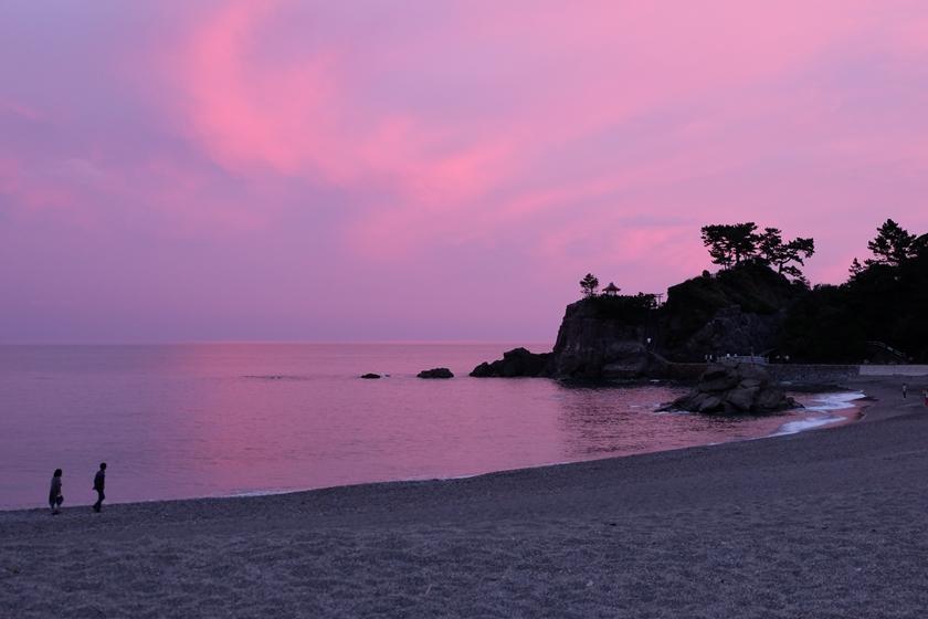 桂浜の夕暮れ