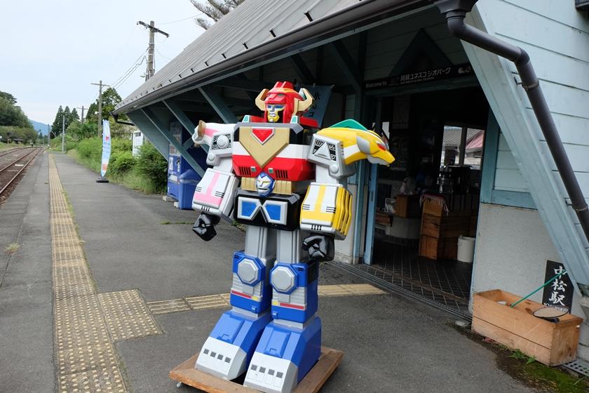 中松駅ホームのロボ