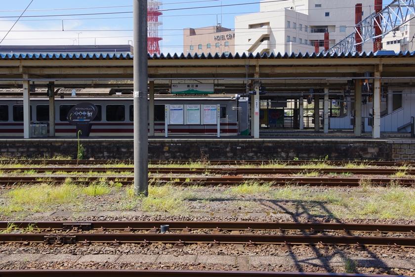 SLから見た直江津駅ホーム