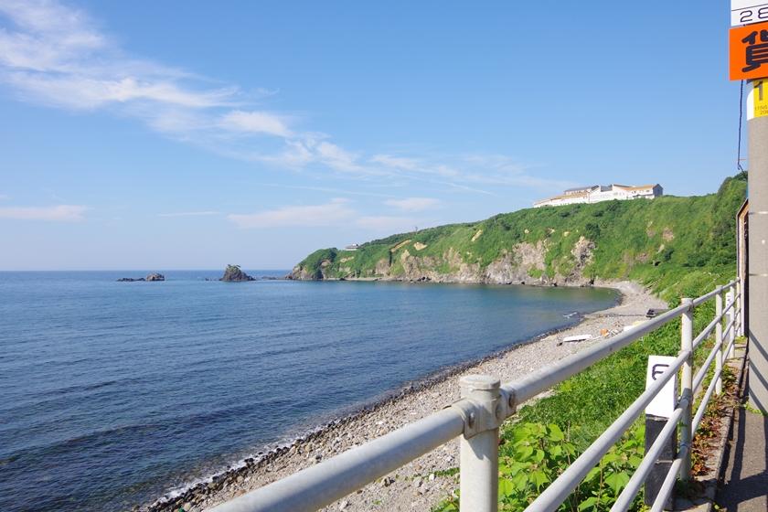 青海川駅から見た日本海