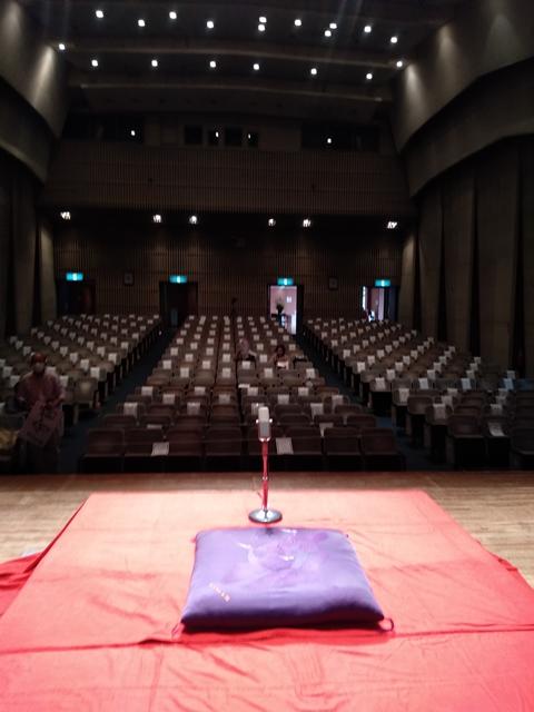 ステージから見た客席