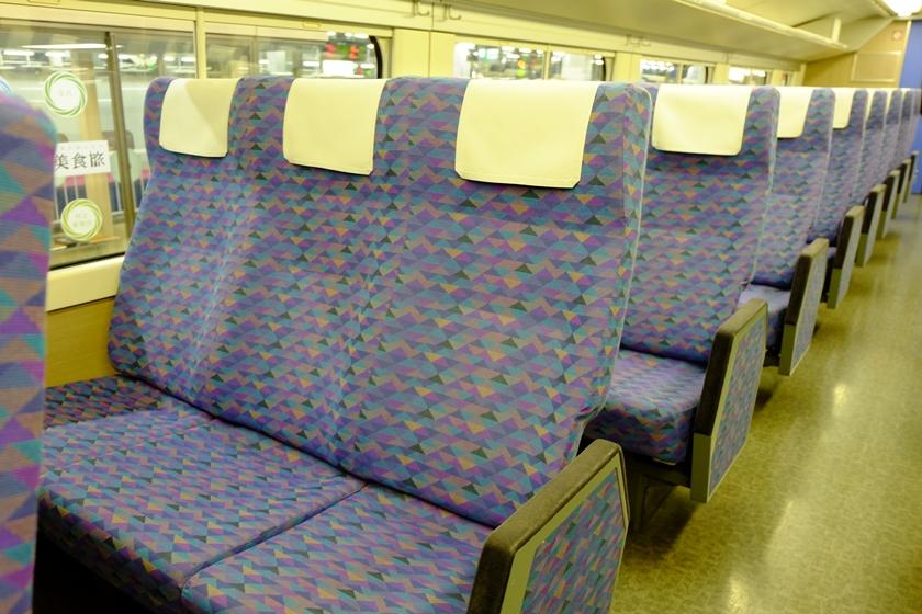 2階席の座席(前面)